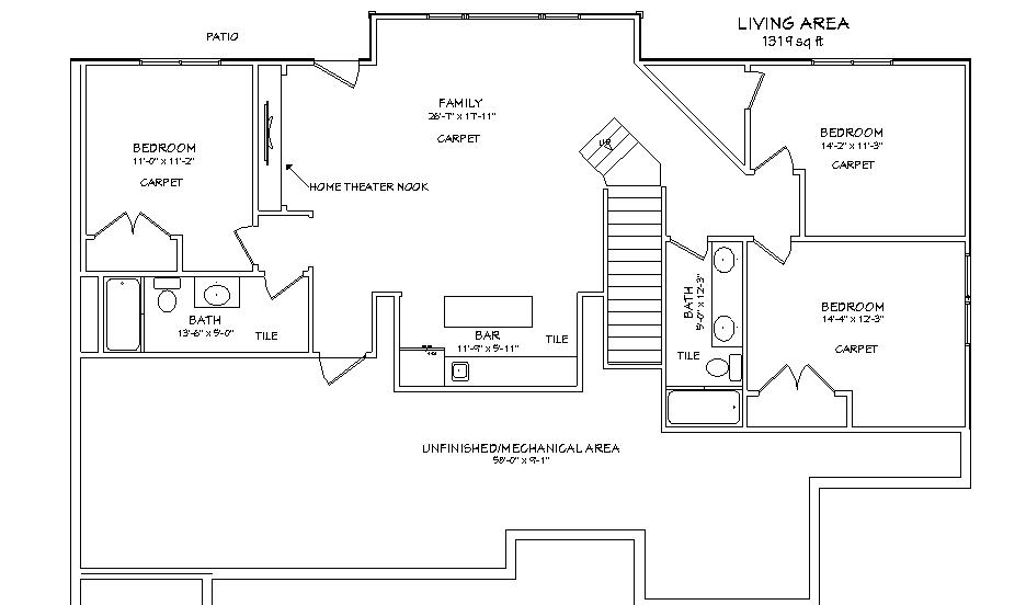 lot 13 main level plan kansas home sites