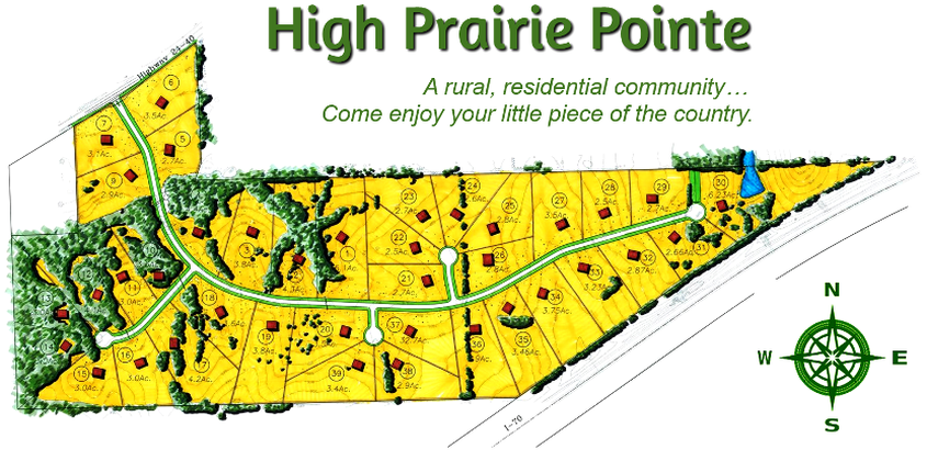 Kansas Home SItes - High Prairie Point Lot Map